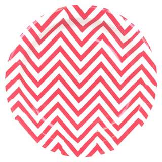 Chevron Red Large Party Plates
