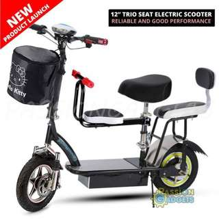 12inch Trio Seat Electric Scooter (PRE-ORDER)