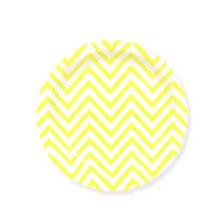 Chevron Yellow Small Party Plates