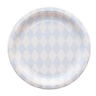 Diamond Blue Pattern Large Party Plates