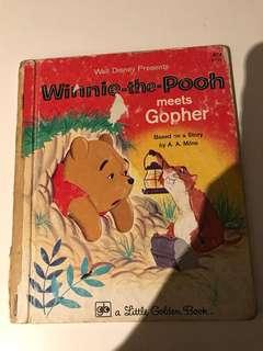 Winnie The Pooh - Meets Gopher - Little Golden Book