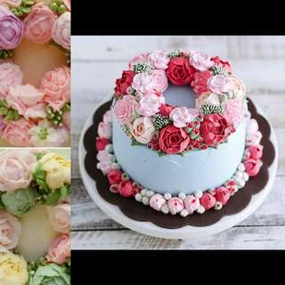 Buttercream Flowers Cake (special price)