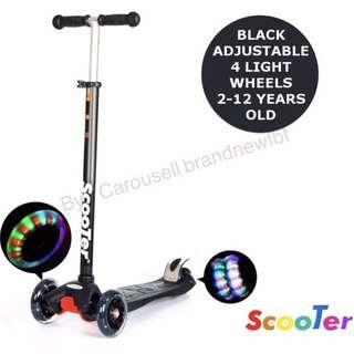 Kick Scooter 4 wheels with LED lights