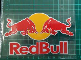 Redbull reflective stickers