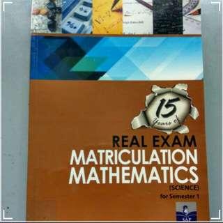 SAP Real Exam Matriculation Mathematics (Semester 1)
