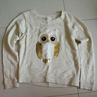 Preloved Good Condition H&M Owl Glittery Sweater