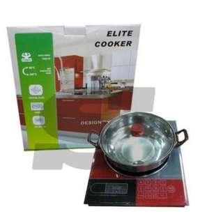 Kompor induksi Elite Cooker 1 Tungku Kompoe Masak Di Rumah Praktis