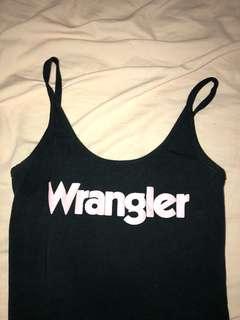 Wrangler body suit black pink