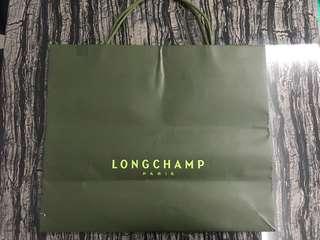 Long champ paper bag