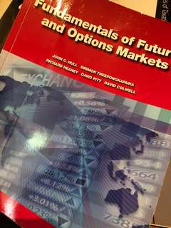 Fundamentals of future and option markets