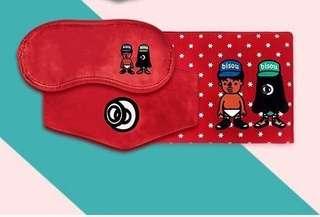 🚚 Pouty World 好罩包三件組(紅)眼罩/口罩/收納包