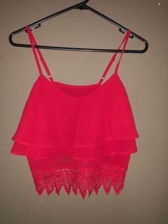 Lace speg in red