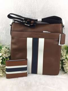 COACH MEN SLING AND WALLET SET