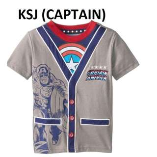 special price 1-6 years old stock available - Captain America boys clothes baby Toddler Children grey base superhero short sleeve