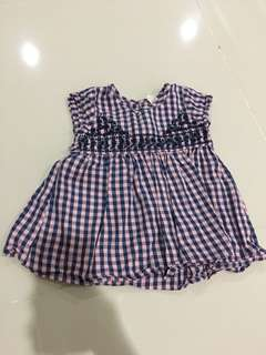 Tiny button girl dress