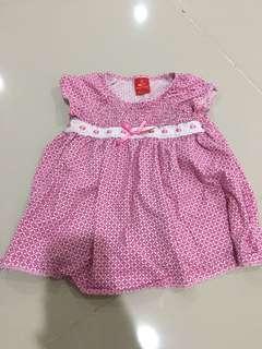 Tiny button baby dress