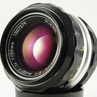 **日光銀鹽** 日鏡 Nikon Non-AI Nikkor-S.C. Auto 50mm F1.4 #379