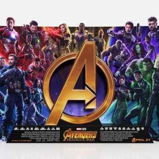 Avengers infinity war poster a3 size