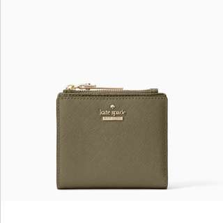 SALE Kate Spade Cameron Street Adalyn Small Wallet Olive Green