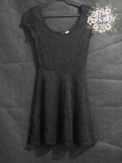 H&M Laced Mini Black Dress