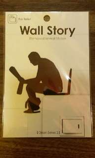 """Wall Story ~ Removable Wall Sticker """"For Toilet"""""""