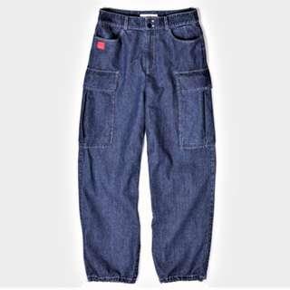 全新免運  Mcha' 慢茶 全棉直筒工裝牛仔褲  Pinkoi品牌