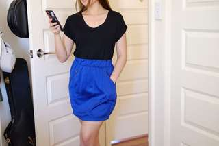 MinkPink Black/Blue Dress
