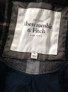 ABERCROMBIE & FITCH PLAID JACKET WITH HOOD