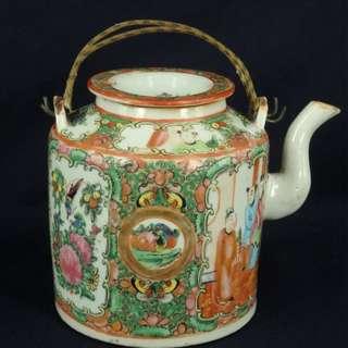 清代 - 廣彩茶壺