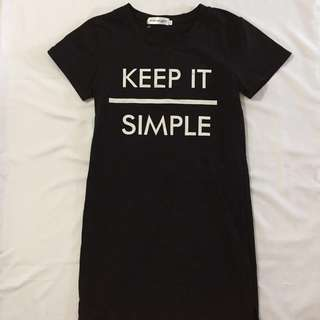 "[BN]"" keep it simple "" t shirt dress"