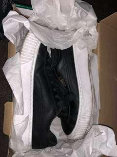 Puma basket platform core black fold