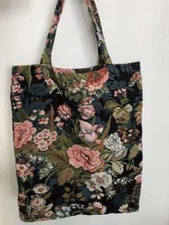 花花厚布Tote Bag