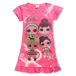 2 for $20 Preorder LOL surprise dolls dress for 4 to 12yo