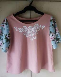 Chic Semi Cropped Top (Old Rose)
