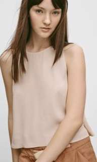 Aritzia Wilfred octave sleeveless crop tank with low armholes