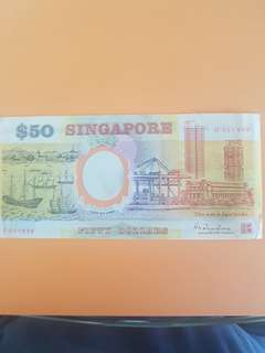 Singapore Old Polymer $50 note.