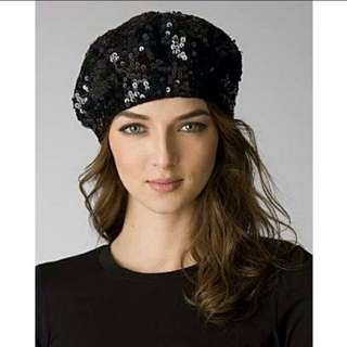 Topshop sequined beanie hat/beret