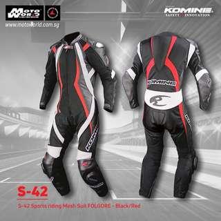 Komine S-42 Sports Riding Mesh Suit