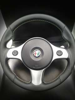 Alfa Romeo 159 / Brera Tri-colore Steering Wheel Leather Wrap