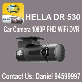 HELLA DR530 / 1- Channel 1080P Full HD Car Camera / WiFi DVR