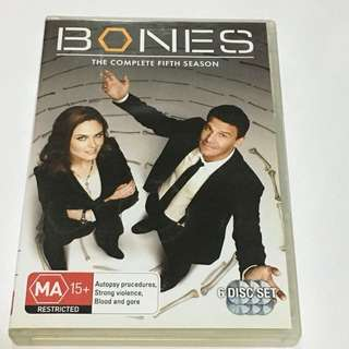 6DVD•CLEARANCE SALES {DVD, VCD & CD} BONES THE COMPLETE FIFTH SEASON : Autopsy procedures, Strong violence, Blood and gore - 6DVD