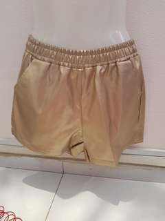 Gold leather Short