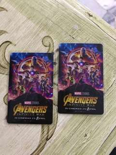 Avengers infinity war limited edition TGV card collectible