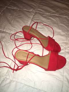 Glassons lace up heels