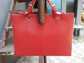 semi leather bag