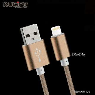 HK KUCIPA Fast charge cable MAX 2.5A output ios/android