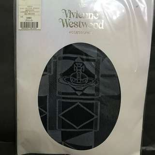 日本 Vivienne Westwood 灰黑色 有花 絲襪