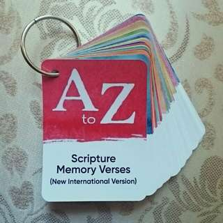 Alphabet (A to Z) Scripture Bible Memory Verses