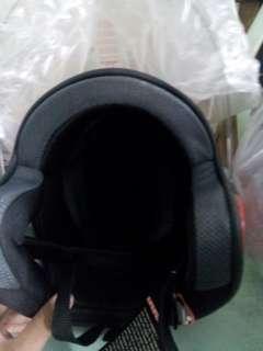 Bnew half face hnj helmet size L.M w/ box30 L.
