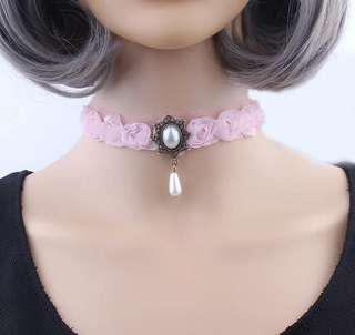 Korean style Necklace/neck chain (pink)